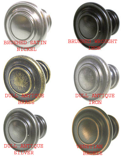 1253 Cabinet Door Knob In Brushed Satin Nickel, Brushed Wrought Iron, Dull  Antique Brass, Dull Antique Iron, Dull Antique Silver, Venetian Bronze